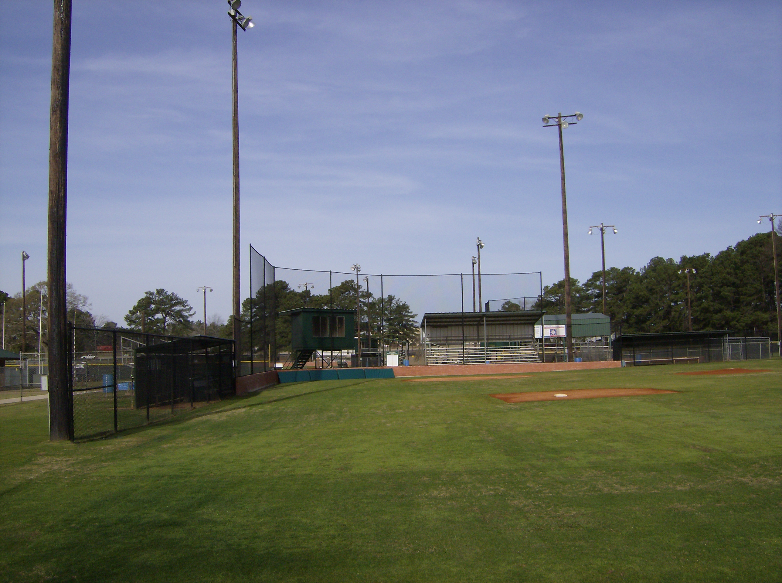 Baseball Field Lights Poles are 80' class 2