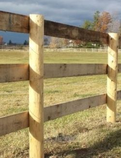 Ohio Fence Company | Eads Fence Co.. Wood Post Caps & Post ...